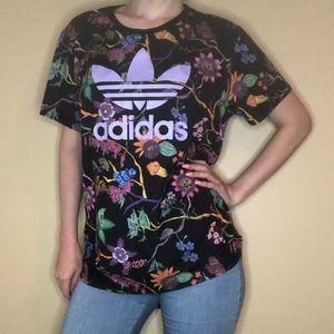 Adidas botanical print tunic